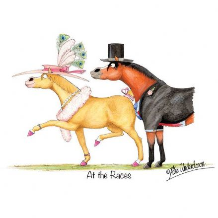 Alex Underdown Blank Greeting Card 'At The Races'